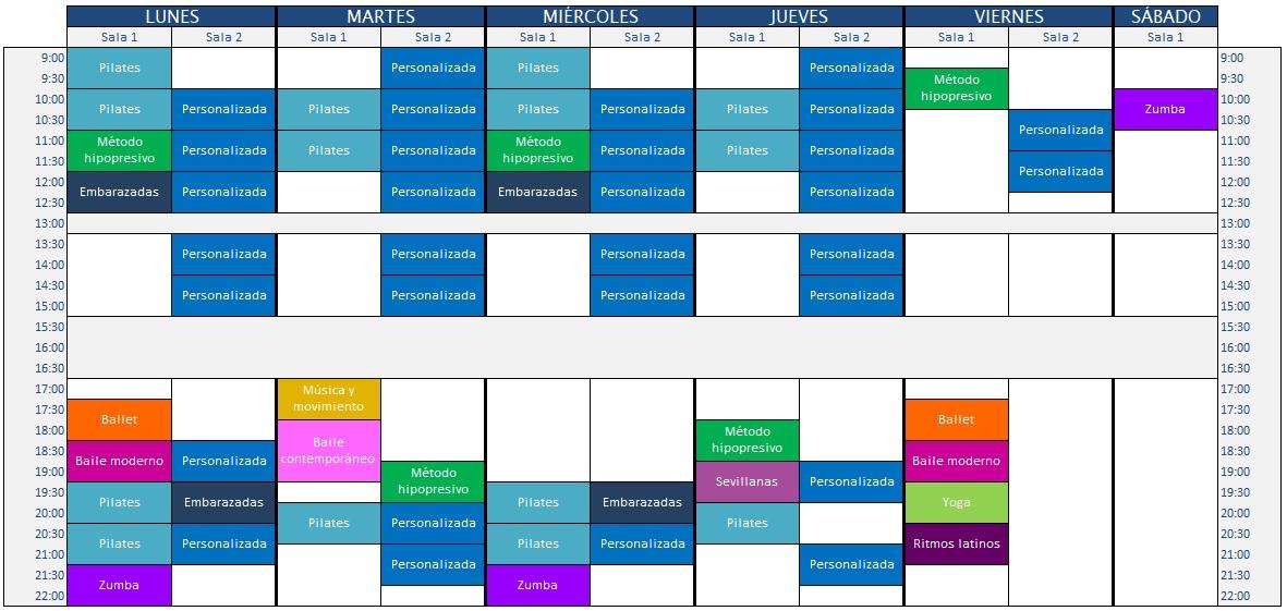 horario 18-19